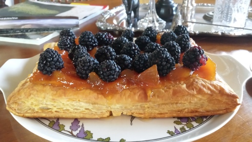 Blackberry Peach Tart