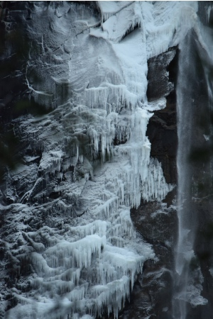 Ice formations on Bridalveil Fall