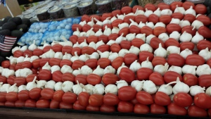 Patriotic Produce Display