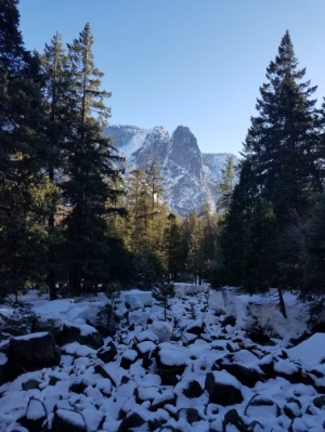 Yosemite Creek in the snow
